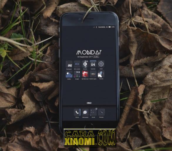 Download Thema Xiaomi GWAD Simple Dark Mtz For MIUI