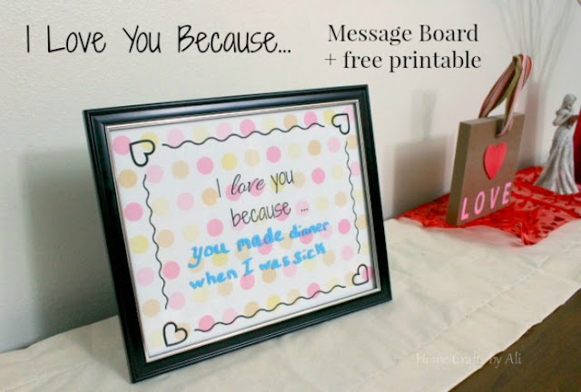 love message frame printable valentine's day