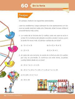 Apoyo Primaria Desafíos Matemáticos 4to. Grado Bloque III Lección 60 En la feria