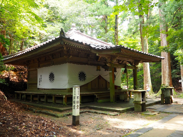Shrine on the hiking path from Kurama to Kibune, Kyoto, Japan