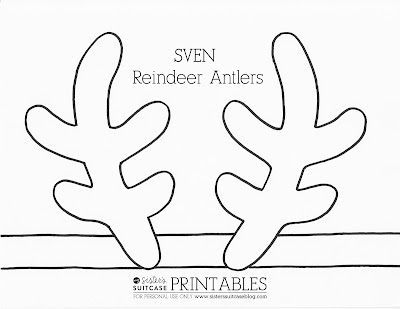 Frozen elsa crown template sven antler template click here to download printable pdf elsa crown pronofoot35fo Choice Image