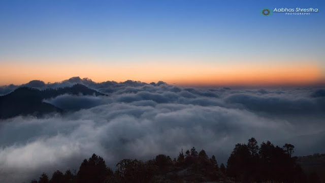 Nepal Mountain Sunrise View
