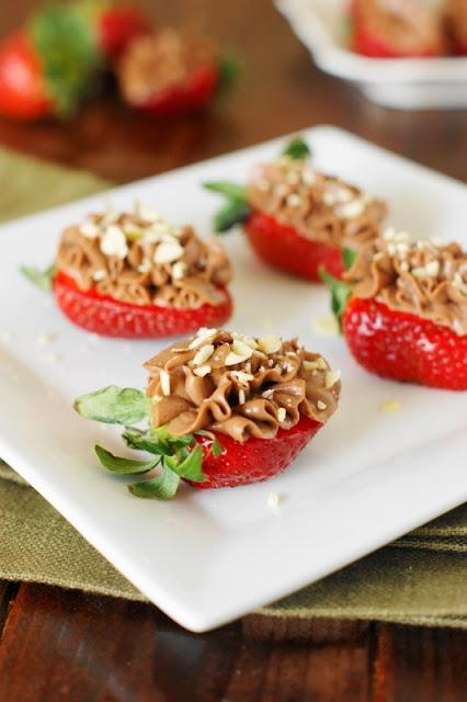 dinner Nutella-Strawberry Cheesecake Bites