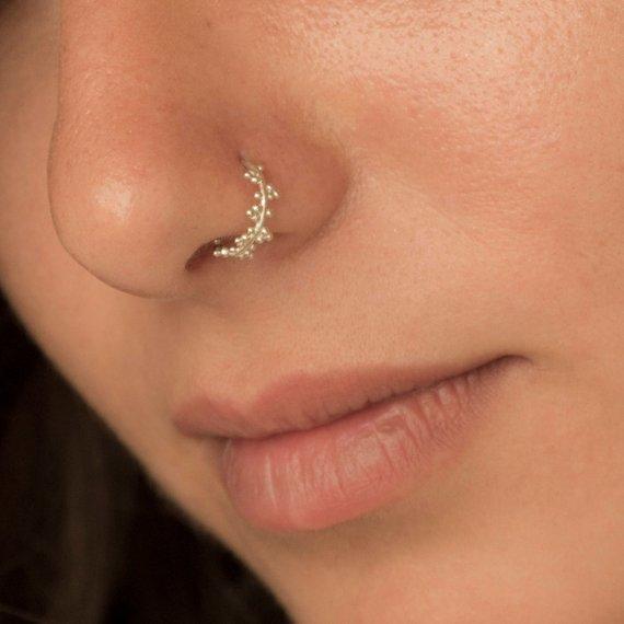 Women Fashion Gold Jewellery Katak Nose Ring