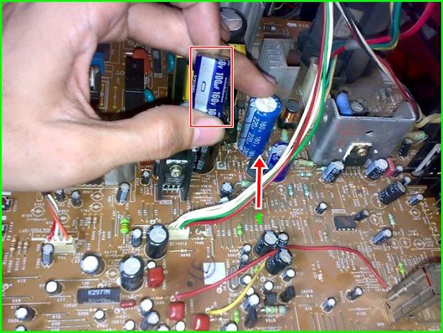 """Penanganan Kerusakan TV Sharp 14"""" Model 14A20MS - Penggantian Komponen"""