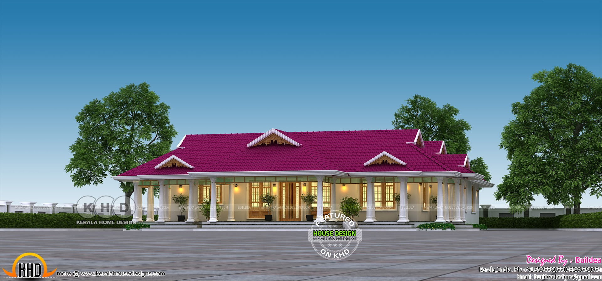 2479 Square Feet Traditional Single Floor Home Kerala Home
