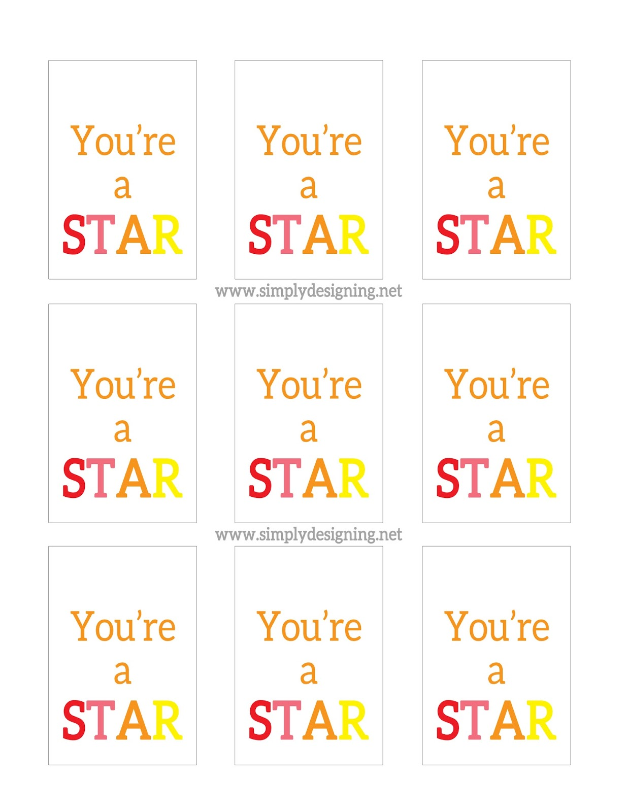 You Re A Star T Idea With Free Printable Ducktape