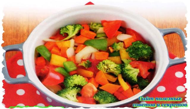 Салат теплый овощной из горшочка