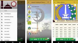 Aplikasi Jadwal Imsakiyah Ramadhan 1439 H/2018 M