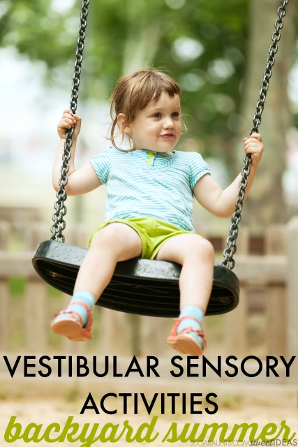 Try these backyard vestibular sensory activities for summer