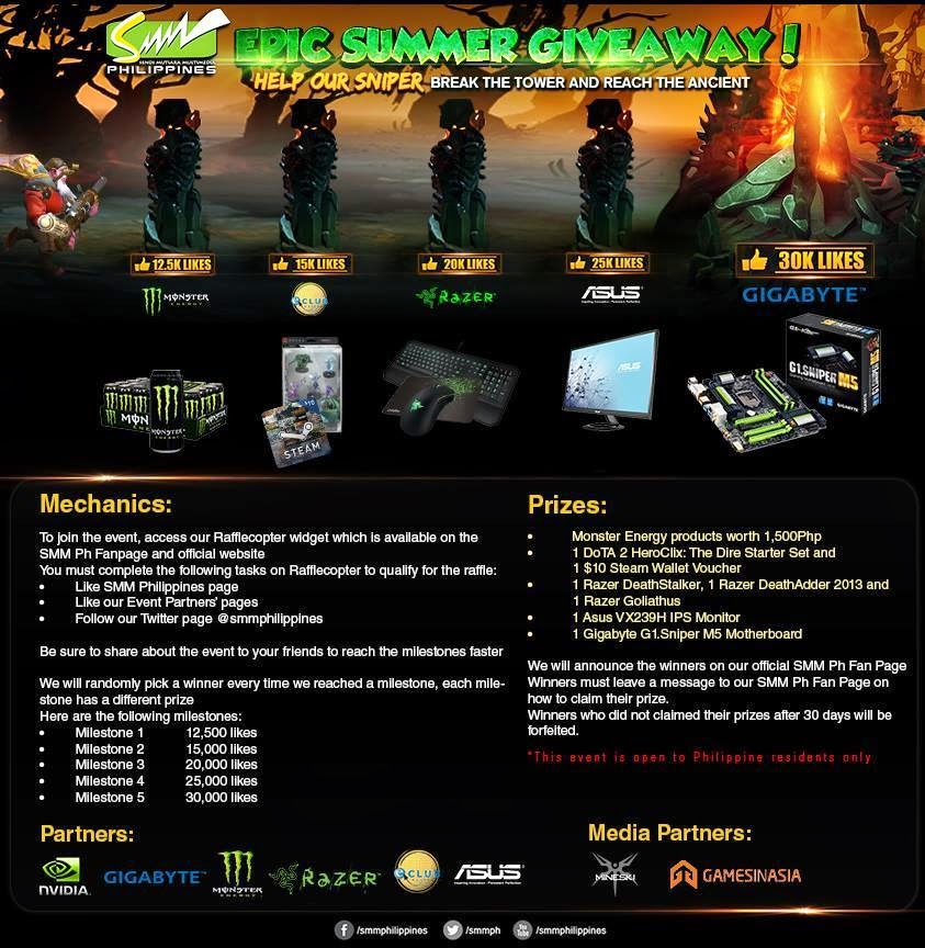 SMM Philippines Epic Summer Giveaway