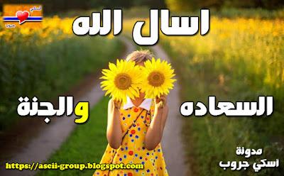 Ask Allah for happiness and paradise اسال الله السعاده والجنة