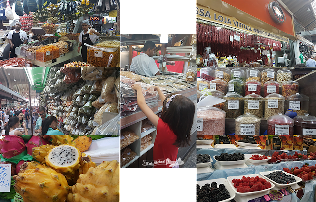 Mercado Municipal de São Paulo, Temperos, Pitaya, framboesas, sementes, amora, mirtilos