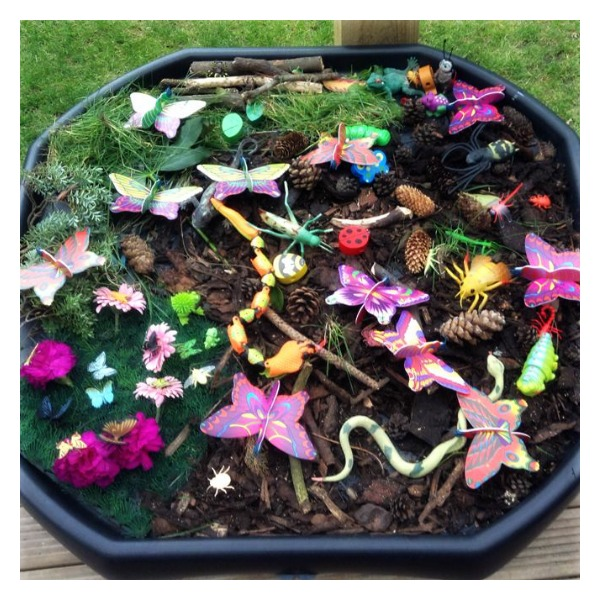 Learning and Exploring Through Play: Small World Tuff Trays For Kids