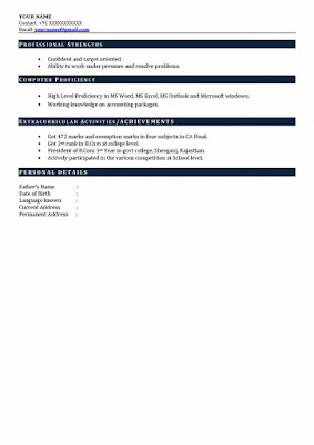 CA Experience Resume 3