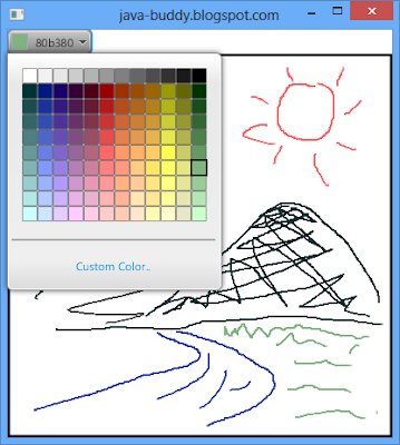 Free draw on Canvas, with ColorPicker.