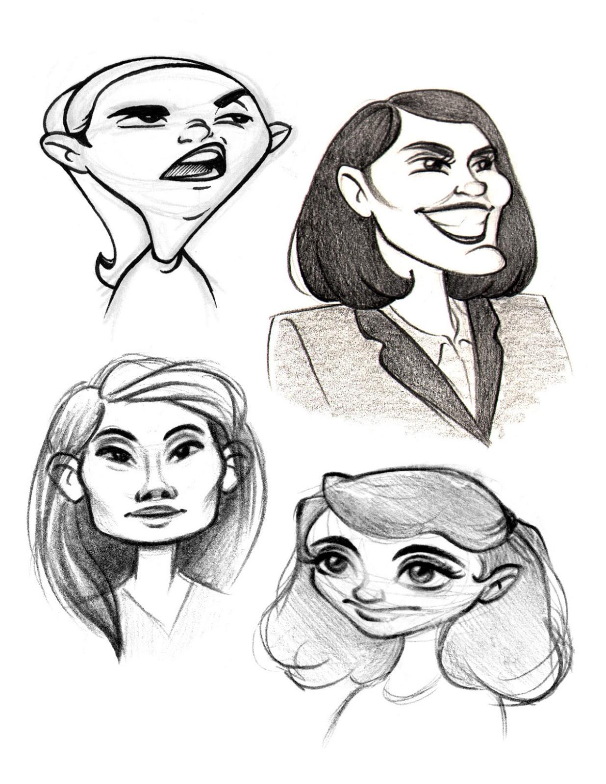 Art of Rebecca De Girolamo: Second Year Caricature Portfolio