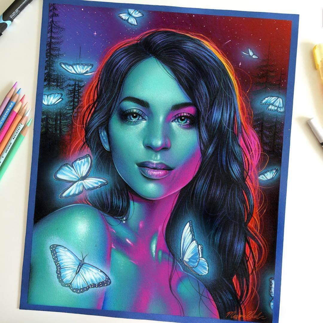 12-Mia-Baker-Glowing-Colorful-Drawings-Morgan-Davidson-www-designstack-co