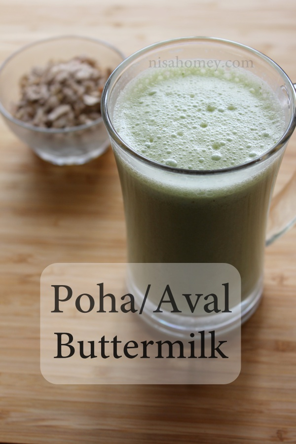 poha butter milk