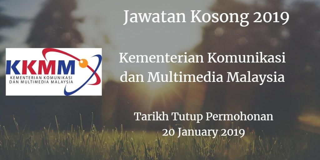 Jawatan Kosong KKMM 20 January 2019