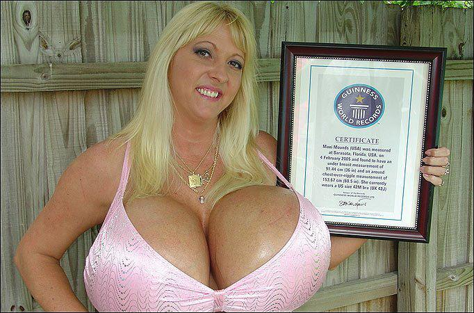 Guiness record biggest boobs