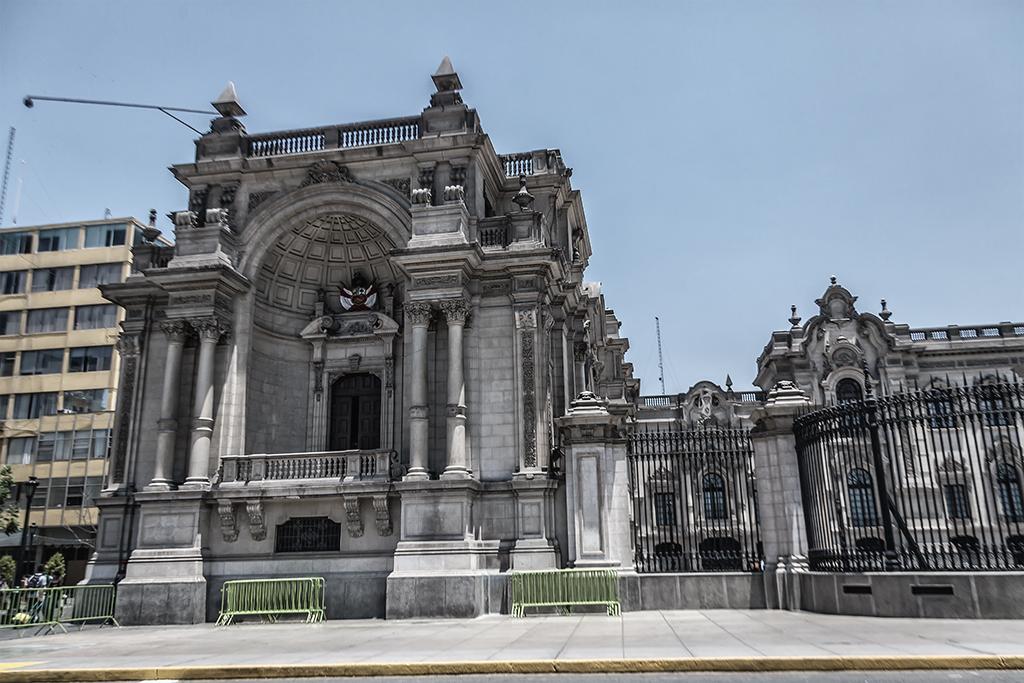 Detalle del Palacio de Gobierno del Perú