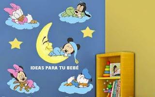 Pegatinas baby disney durmiendo