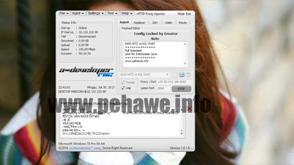 Config HTTP Proxy Injector (HPI) Axis Hitz & KZL Chat