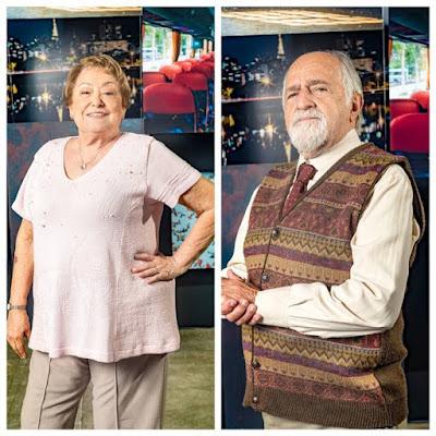 Marlene (Suely Franco) é uma professora viúva, que nutre um grande amor pelo ex-namorado Antero (Ary Fontoura), em 'A Dona do Pedaço' — Foto: TV Globo/João Miguel Jr.