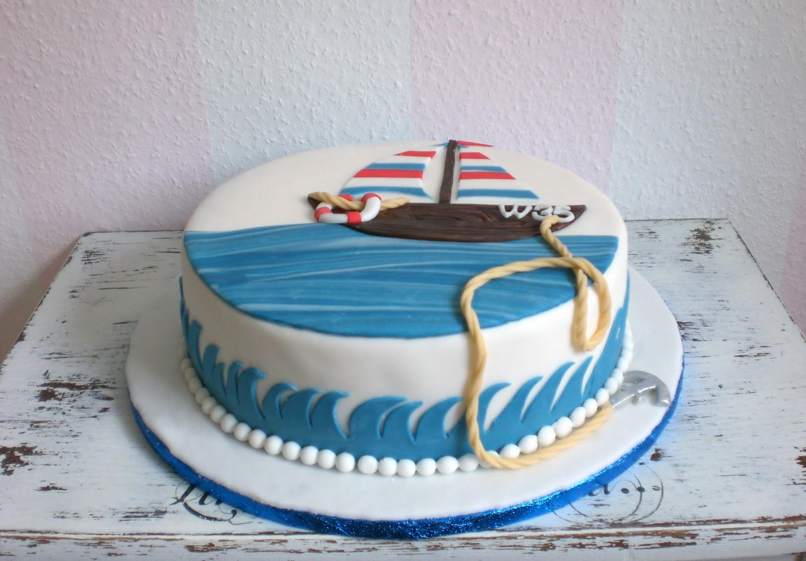 segelschiff zum 35 geburtstag christina 39 s catchy cakes. Black Bedroom Furniture Sets. Home Design Ideas