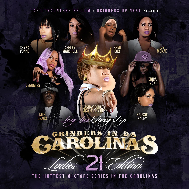 Grinders In Da Carolinas Vol  21 Mixtape (Ladies Edition