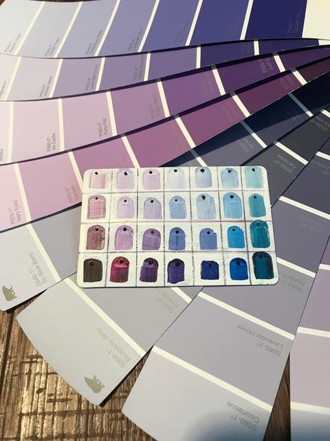 Purple  color chart