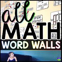 math word walls bundle