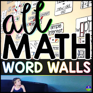 math word walls bundle