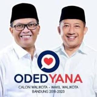Hasil Quick Count Pilwalkot Bandung 2018: Oded-Yana Menang & Sampaikan Pidato Politik