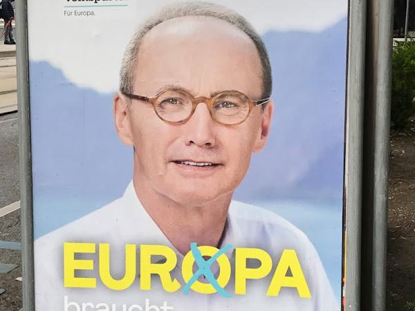 Die Europawahl 2019 Plakatgedanken - Türkis steht halt nicht jedem