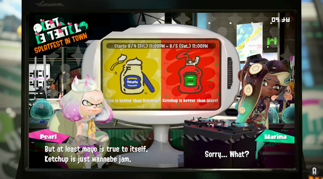 Splatoon 2 Splatfest Pearl ketchup is wannabe fruit sugar tomato jam