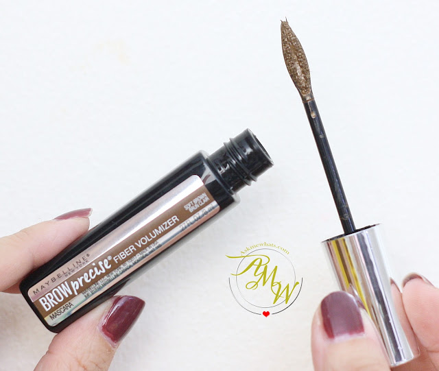a photo of Maybelline Brow PRecise FIber Volumizer Mascara in Soft Brown Review