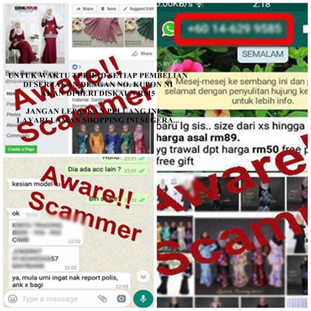 Hati-hati Dengan Barangan Jualan Murah Online, Scammer Memerangkap Mangsa....