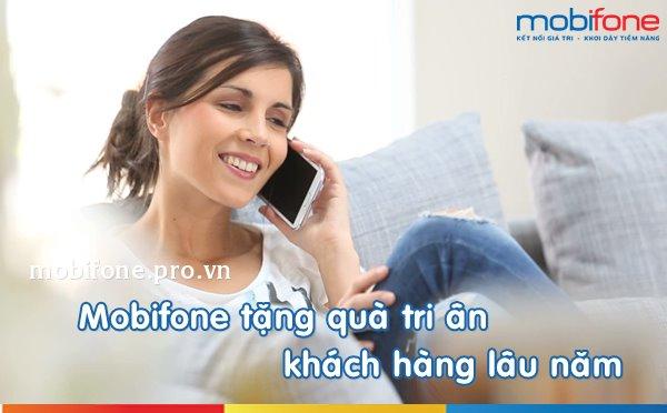 Mobifone tặng phút gọi và SMS miễn phí cho khách hàng lâu năm