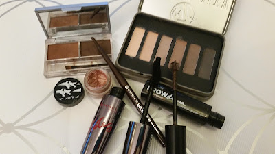 Fortnightly make up rotation Eye products W7, Benefit, Essesnce, Rimmel, Maybelline