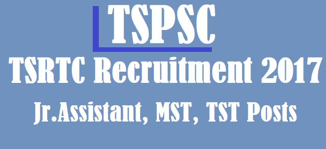 TS Jobs, TS Recruitment, TSPSC Recruitments, TSRTC, TG State, TSRTC Notification, jr.assistant posts