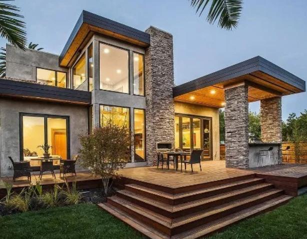 model tiang teras depan rumah minimalis  dengan batu alam