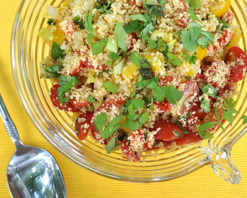 No-Cook Tabbouleh, another healthy summer salad ♥ A Veggie Venture