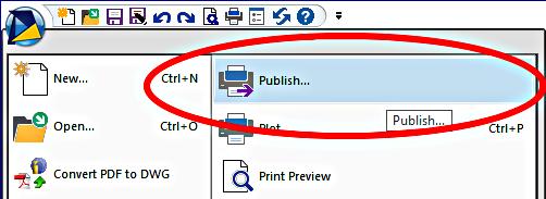CAD Software Blog: Batch Printing in progeCAD - Using Publish