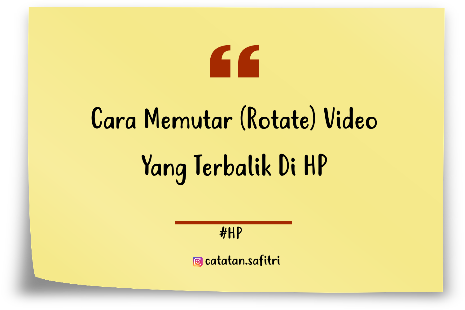 cara merotasi video di hp