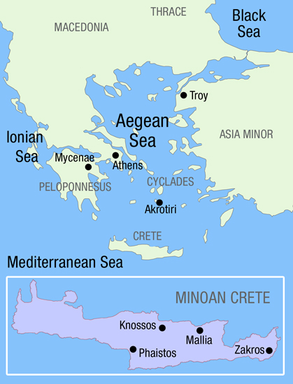 And Map Aegean Sea North