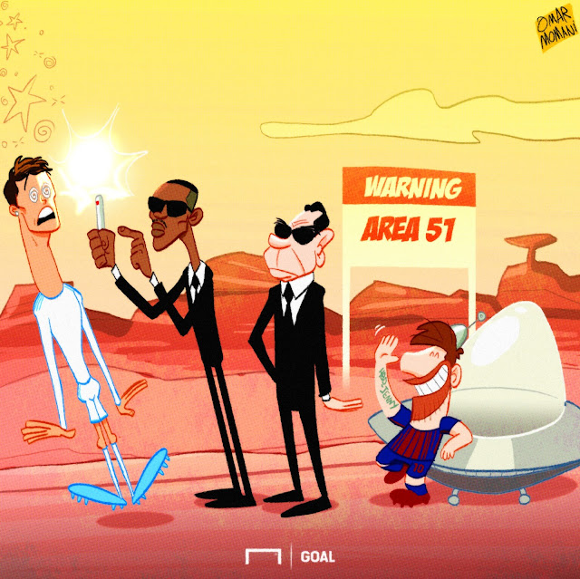 Messi, Ronaldo and the MIB