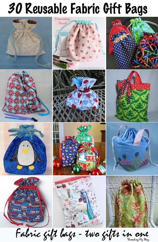 30 Reusable Fabric Gift Bags