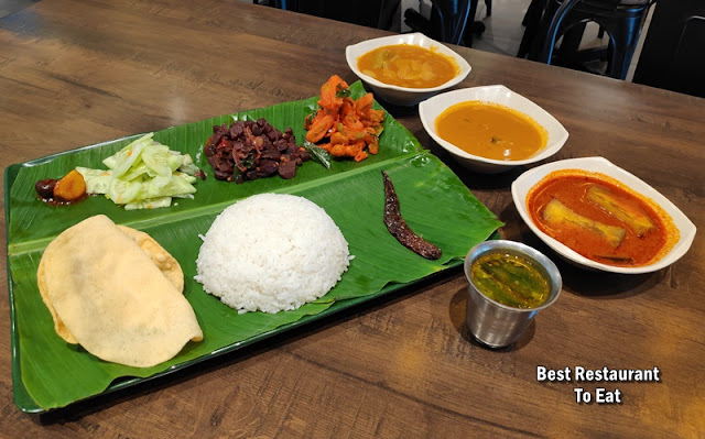 Banana Leaf Rice Vegetarian Set